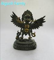 Rare Old Bronze Gilt Carved garud!a Sculpture/Art collection Antique antique India Garuda Bird Statue