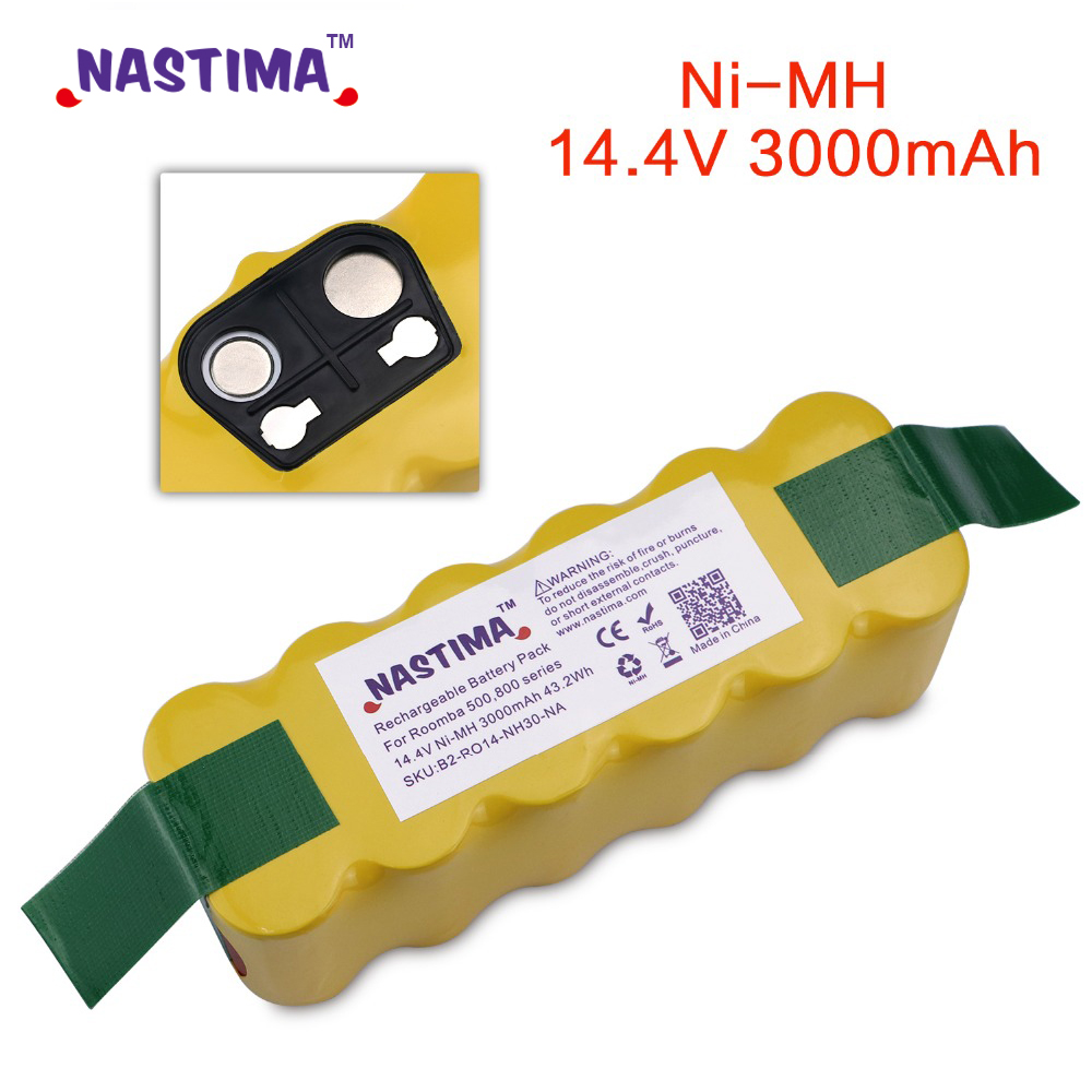 NASTIMA Replacement 3000mAh Battery Extended-for IRobot Roomba 500 600 700 800 Series Vacuum Cleaner IRobots 785 530 560 650