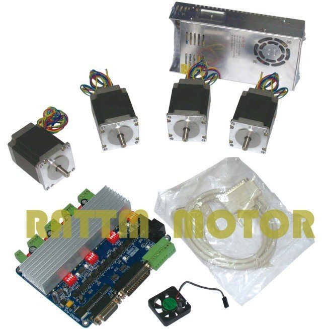 Hot Recommend! 4 NEMA23 270 oz-in stepper motor + ...