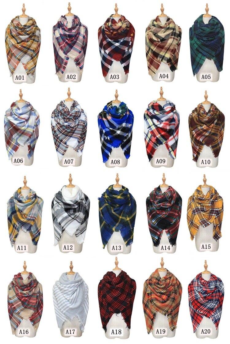 Winter Warm Plaid Cashmere Like Blanket Scarf Shawl Pashmina/grid Scarves 99 Color