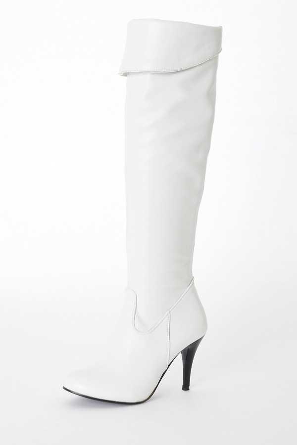 Büyük Boy kadın Ilkbahar/Sonbahar Kış Üzerinde Katlanır Diz Çizmeler Seksi Ince Yüksek Topuk Çizmeler Moda Sivri Burun çizmeler Kadın Shoes858
