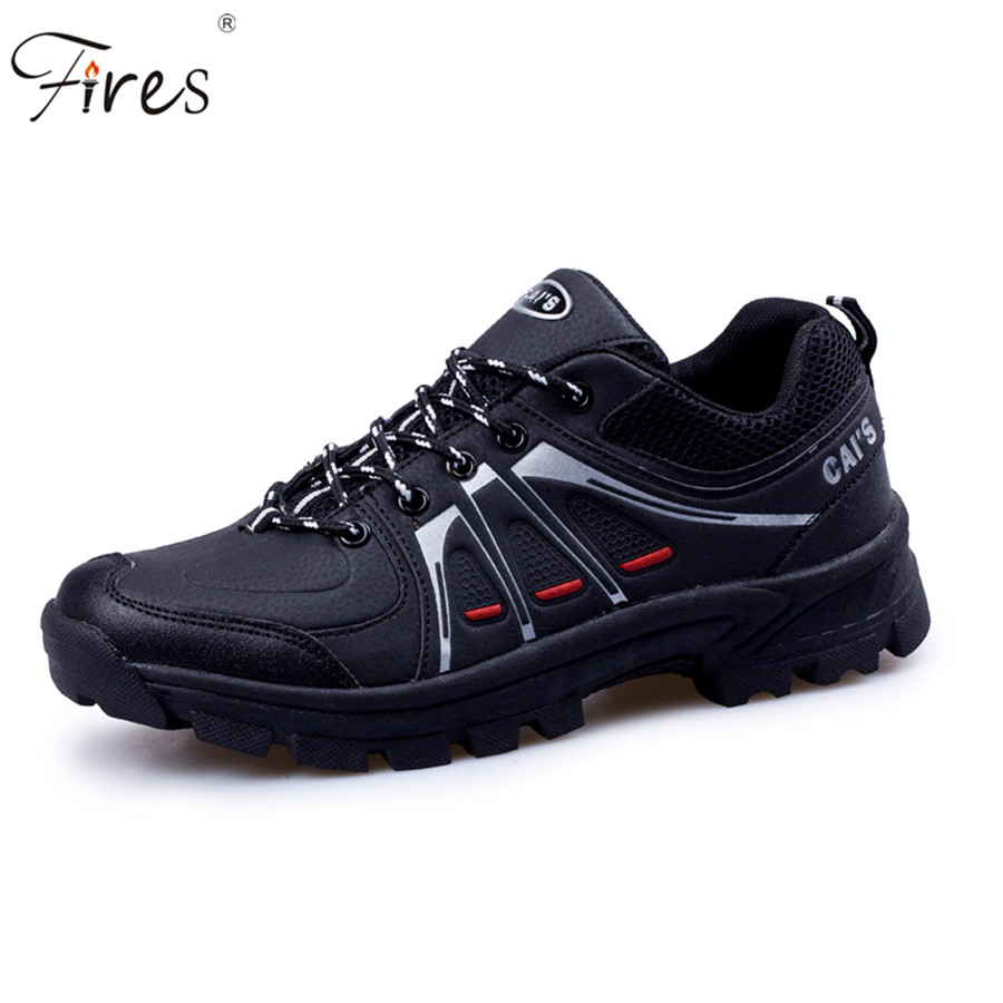 ФОТО walking men climbing shoes sport shoes men hiking boots mountain shoes non-slip breathable outdoor hiking shoes Snbeakers