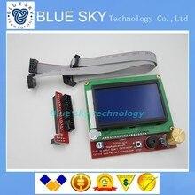 2 sets 3d-принтер умный контроллер ПЛАТФОРМЫ 1.4 ЖК 12864 ЖК-панель управления синий экран