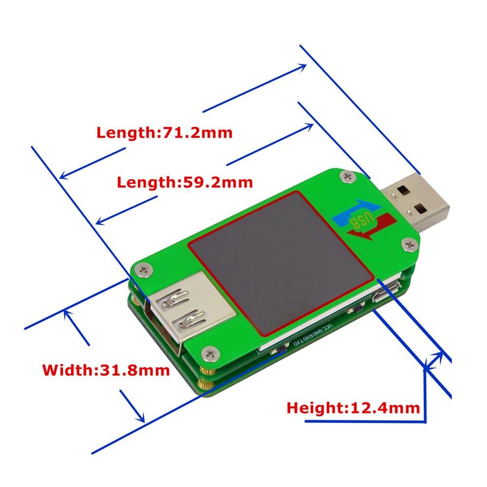 RD um24c um24 Smart ЖК-дисплей Дисплей тестер напряжения постоянного тока Батарея зарядки измерения сопротивление кабеля