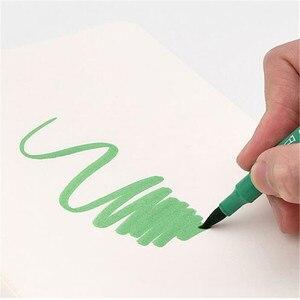 Image 4 - Youpin KACO 36 цветов, акварельные ручки с двойным наконечником, маркеры для рисования граффити, набор для рисования, двойная ручка с кисточкой, нетоксичный безопасный #