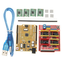 CNC Shield V3 Expansion Board 4xA4988 Step Motor Driver Module UNO R3 Board Kit For Arduino