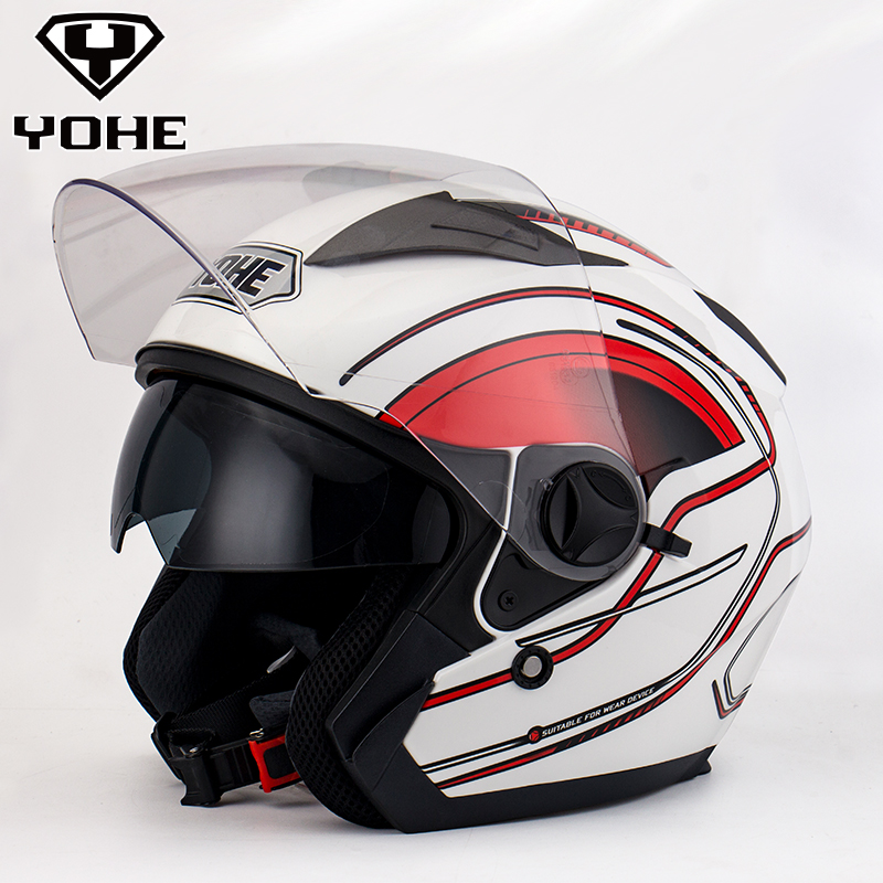 2016 YOHE Helmet Top ABS Moto biker ktm helmet MASEI Iron Man personality special fashion half open face motocross helmet YH868