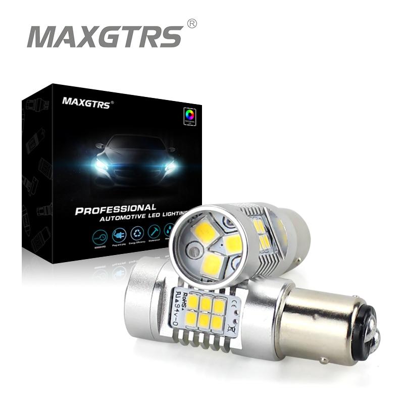 2x meleg fehér 1157 BAY15D P21 / 5W autós világítás Lens S25 - Autó világítás
