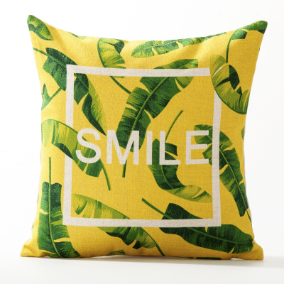 Rainforest Smile Cushion Cover