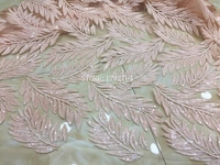 2017 African sequins tulle lace Hot new for peach Color guipure african sequence cord lace fabric for Nigerian wedding dresses .
