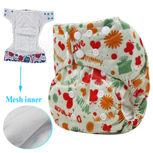 Reusable nappy Wateproof and Children washable reusable nappies one size pocket double leg gusset baby cloth diapers