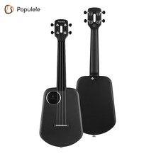 Populele U2 23 Inch Smart Concert Ukulele Ukelele Uke Supports APP Teaching Carbon Fiber Body ABS Fretboard with LED light