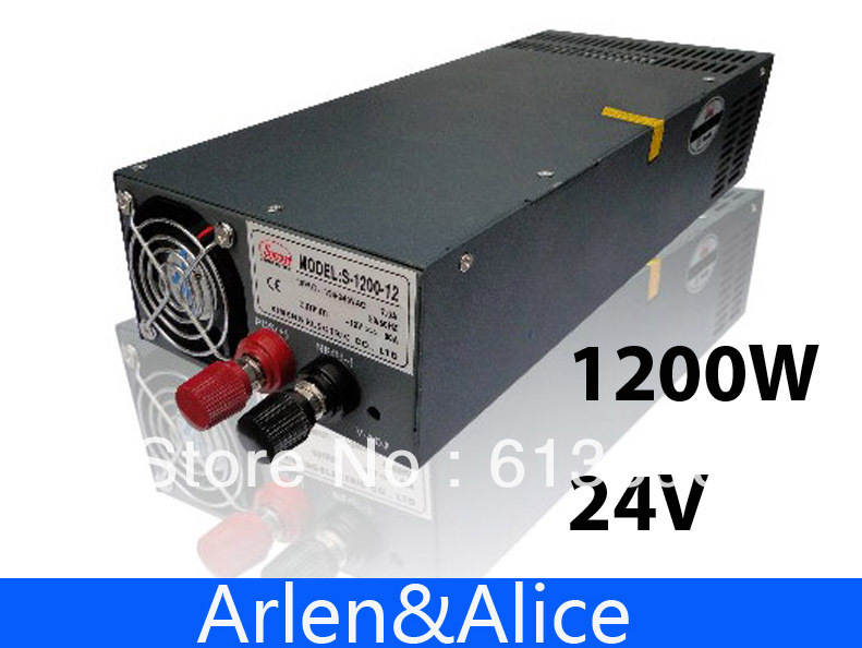 1200W 24V 50A adjustable 110V input Single Output Switching power supply for LED Strip light AC to DC