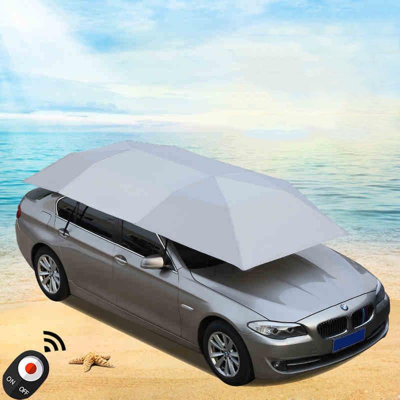 Tragbare Auto Dach Sonnenschirm Isolierung Drahtlose Fernbedienung Outdoor Reise Dach Automatikschirm 400x210 cm
