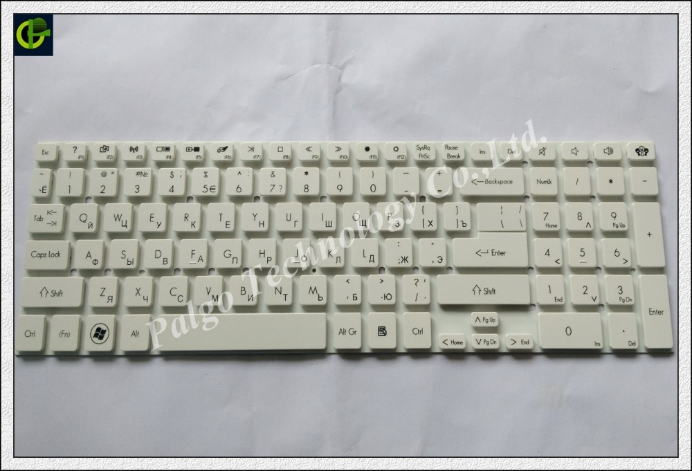 Russian Keyboard for packard Bell Easynote TS45 TS45HR TS45SB TSX62 TV11HC RU White ноутбук packard bell easynote tg81ba p9n2 nx c3yer 016