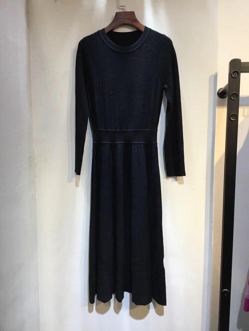 Couleur Mode Femmes Manches Dcaress En Laine Longues Robe Tricoté 2 wpqCZgAw