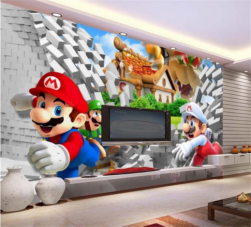 3d room photo wallpaper custom mural non-woven wall sticker Super Marie 3D anime TV background painting 3d wall murals wallpaper 3d murals wallpaper hd paris window photo custom non woven sticker room sofa tv background wall painting wallpaper for walls 3d