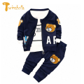 TWINSBELLA Baby Boy Clothing Set Autumn Boy Long Sleeve Cartoon T-shirt+Pant+Jacket Winter Baby Boys 3PCS Cotton Clothes Set