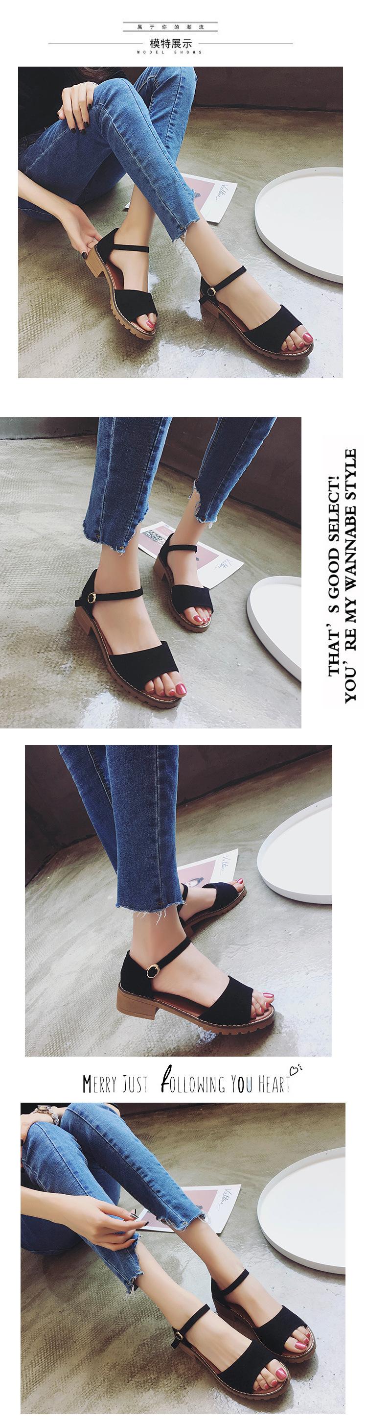 Sweet Summer Platform Sandal 2018 Buckle Strap Open Toe Women Sandals Square Heel Designer Shoes 8
