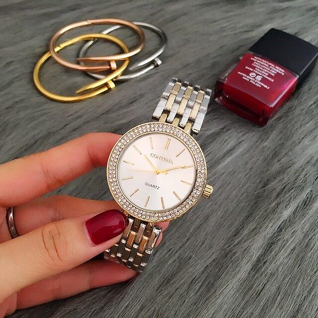 CONTENA Luxury Rhinestone Watch Women Watches Fashion Gold Women's Watches Ladies Watch Women Clock relogio feminino reloj mujer