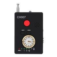Envío Gratis Multi Onda De Radio Inalámbrica de Señal RF GSM Spy Ocultada Agujero de Alfiler Lente de La Cámara Sensor Buscador Escáner Detector CX007