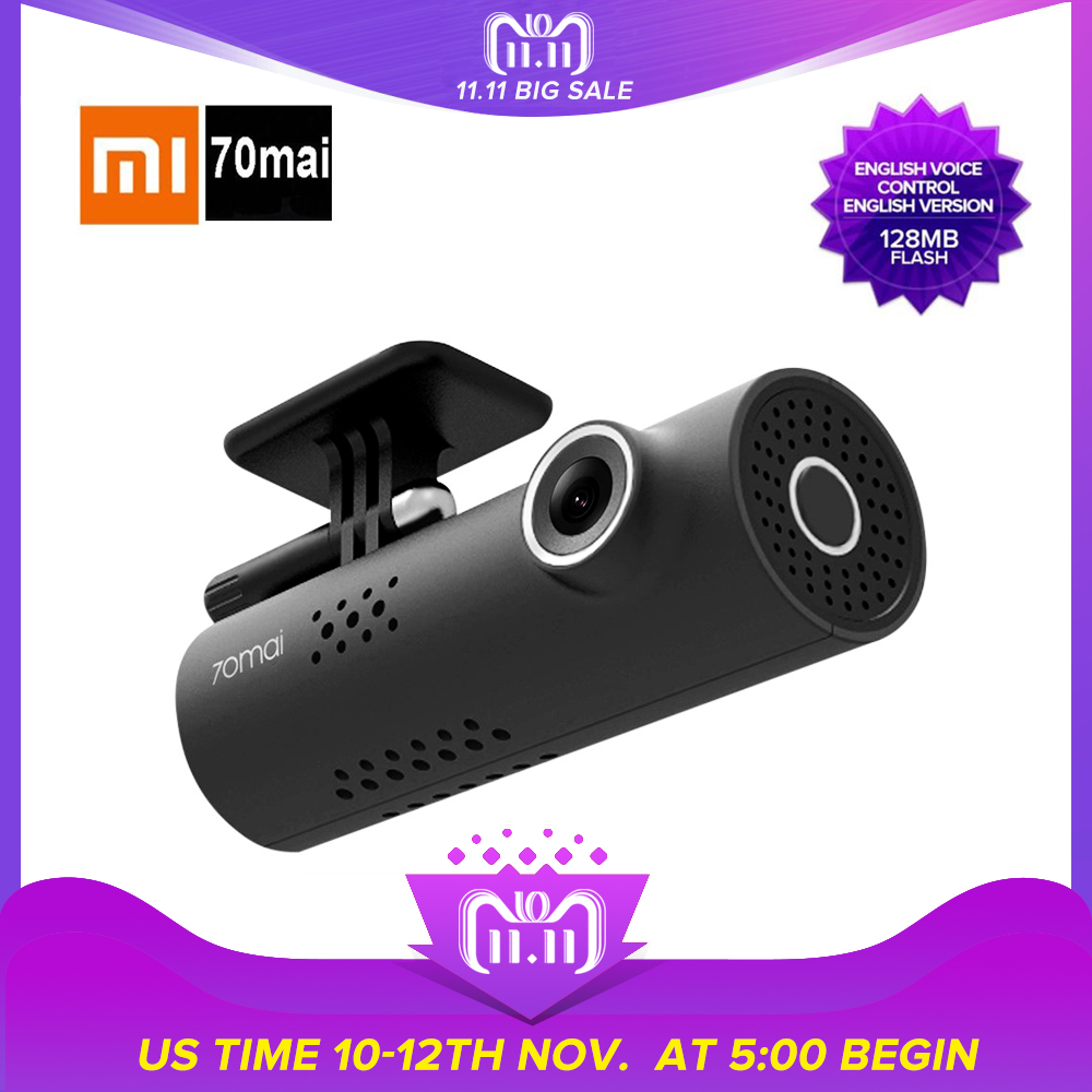 Xiaomi 70 Minutes Dash Cam Xiaomi MIJIA Wireless WiFi DVR with 130 Degree 1920 x 1080P Full HD Night Version G-Sensor English