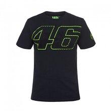 Бесплатная доставка! Двигатель цикл MotoGP футболка Valentino Rossi VR46 46 логотип Двигатель Футболка черный