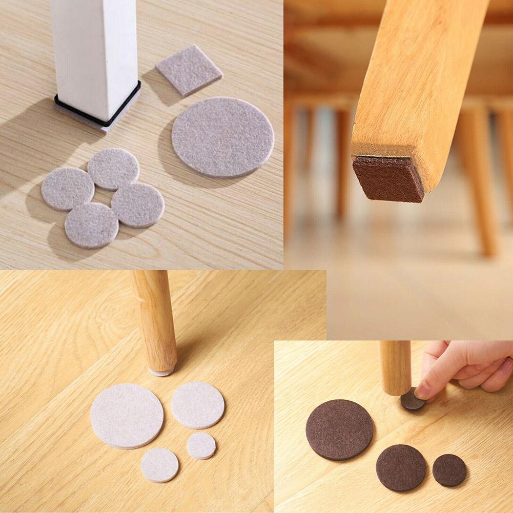 Self Adhesive Furniture Leg Feet Rug Felt Pads Anti Slip Mat Bumper Damper For Chair Table Protector