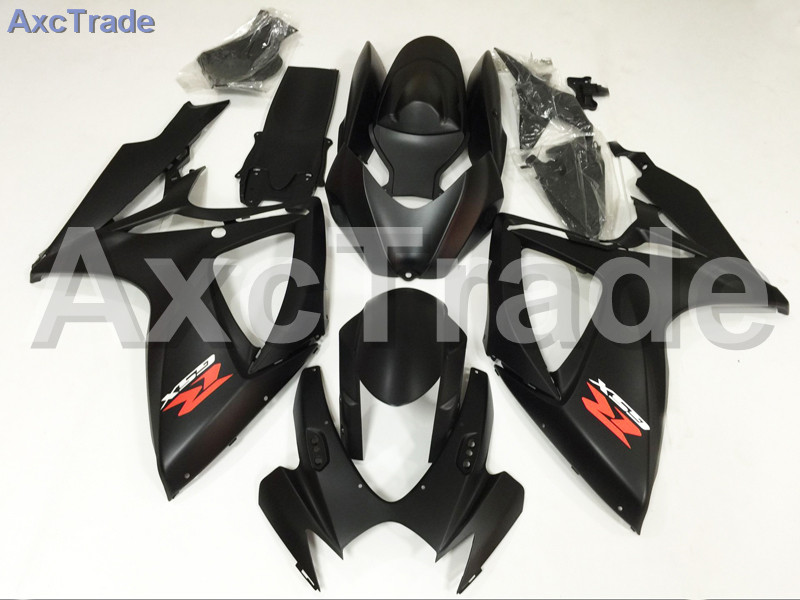 Motorcycle Fairings For Suzuki GSXR GSX-R 600 750 GSXR600 GSXR750 2006 2007 K6 ABS Plastic Injection Fairing Bodywork Kit Black custom road fairing kits for suzuki glossy flat black 2006 gsxr 1000 k5 2005 gsx r1000 06 05 motorcycle fairings kit