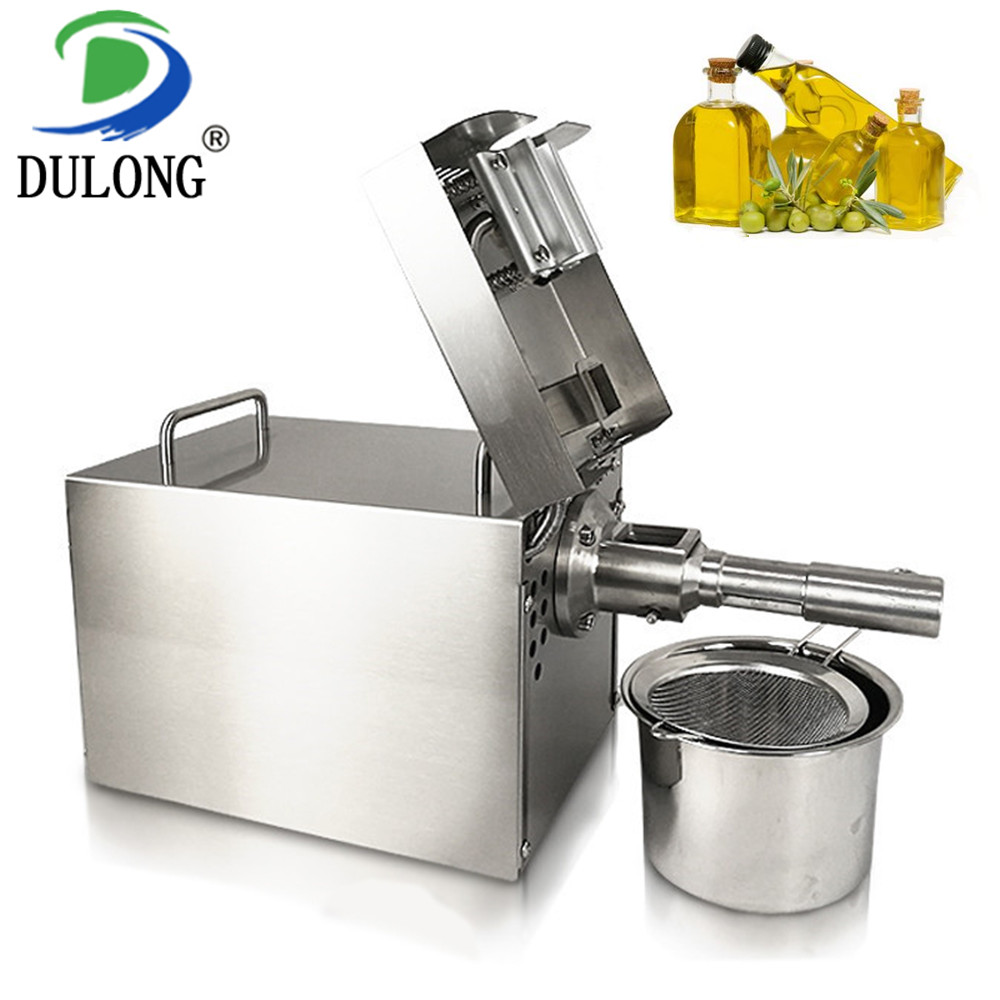 Small coconut oil extraction machine, olive oil press machine, soybean and peanut oil processing machine for commercial or home