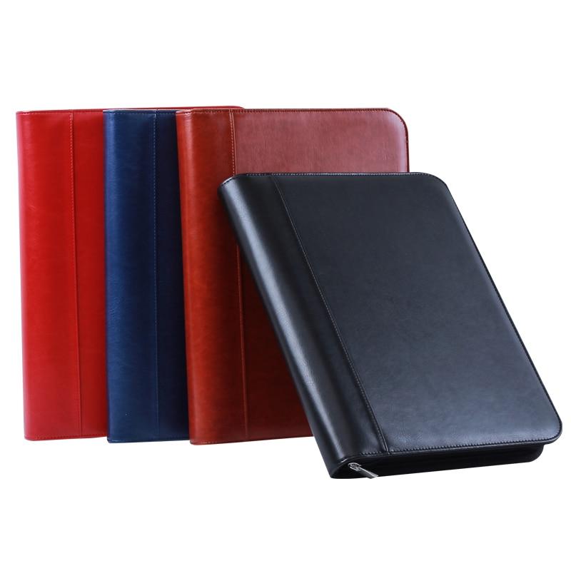 Multifunction PU Leather Business Office File Folder A4