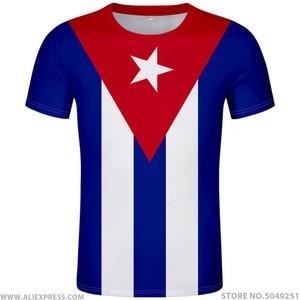 CUBA t shirt diy free custom made name number t-shirt nation flags spanish country cu Ernesto Guevara print photo cuban clothing(China)