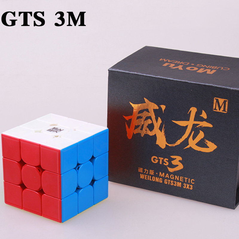 MOYU WeiLong GTS 3M 3X3x3 Magnetic puzzle Cube gts 2m professional speed moyu cubes stickerless magnet magic cube toys for kids leadingstar moyu aochuang gts m 5x5 magnetic smart cube magic cube speed puzzle cubes educational toys for children