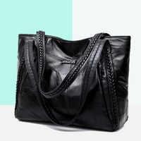 Bolsa de ombro feminina de couro grande capacidade hobo bolsa feminina designer de moda crossbody bolsas de couro das senhoras do vintage