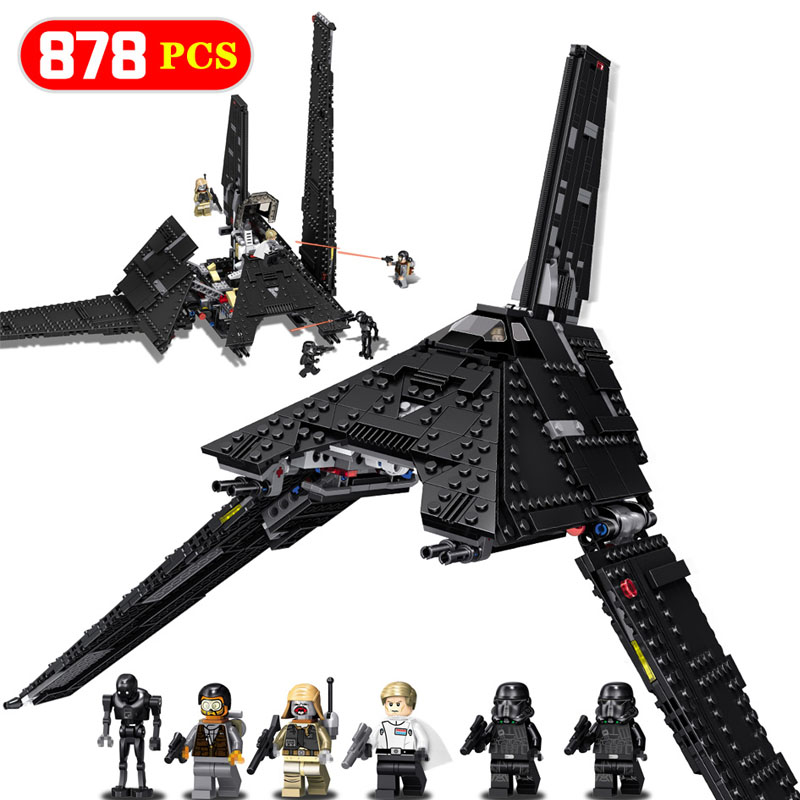 Hot Krennic's Imperial Shuttle Microfighter Compatible  LegoINGLYs StarWars Movie Figures Building Blocks Bricks Kids Toys Gifts
