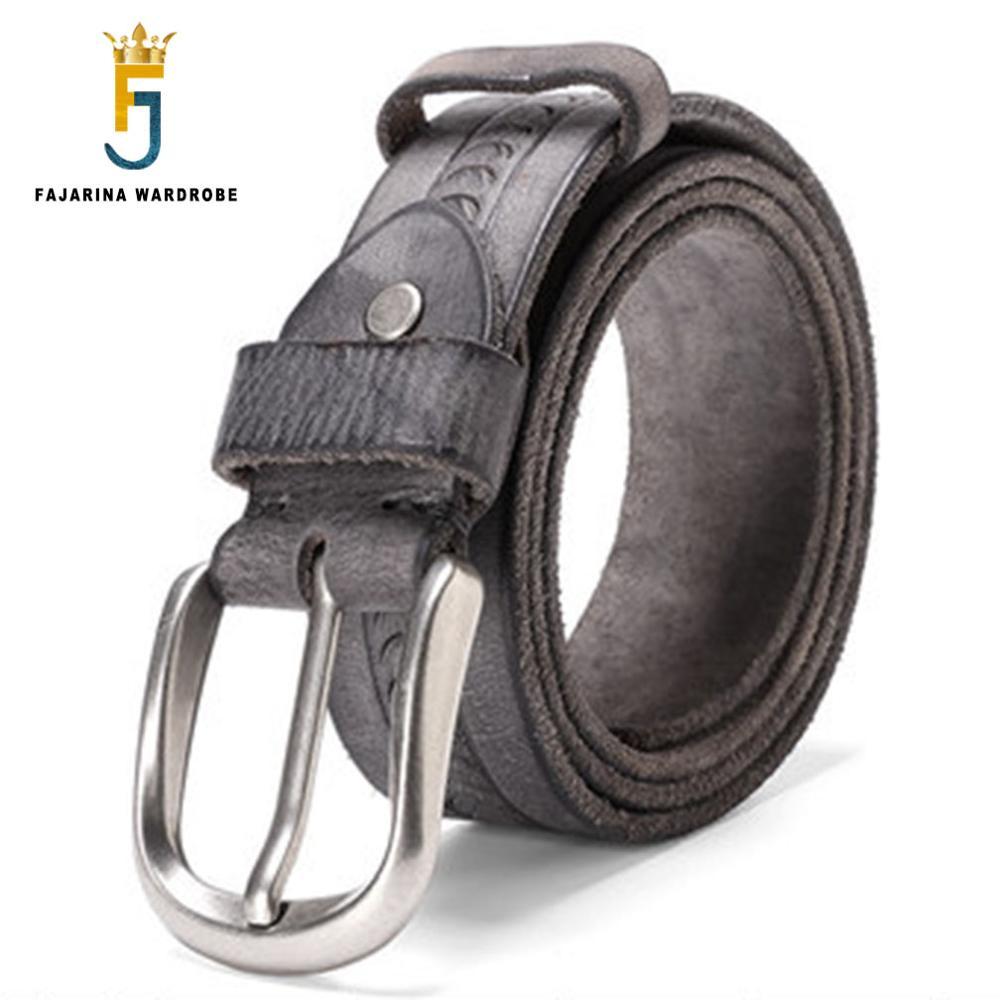 FAJARINA Auténticos Cinturones de Cuero de Calidad Superior 100% Puro  Unisex Diseño Único Patrón de Escamas de Pescado Correas de piel de Vaca  para Las ... f6edd56caf0c