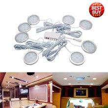 8 PCS 12 V Interni del Punto di Bianco LED Luci 2.5 W Per VW T4 T5 Camper Van Caravan Camper Bianco luci 6500 K