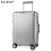 20 24 29 дюймов 100% Алюминий rolling багаж чемодан для путешествия алюминиевый Прядильщик сумка тележка на колеса серебро ручной клади чемодан