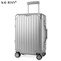202429 inch 100% aluminium rolling luggage travel suitcase aluminum spinner trolley bag on wheel Silver carry ons suitcase