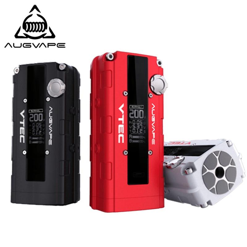 Augvape V200 200 w elektronische zigarette mod Auto Bypass V modus led-anzeige 510 stecker mod box 3 farben