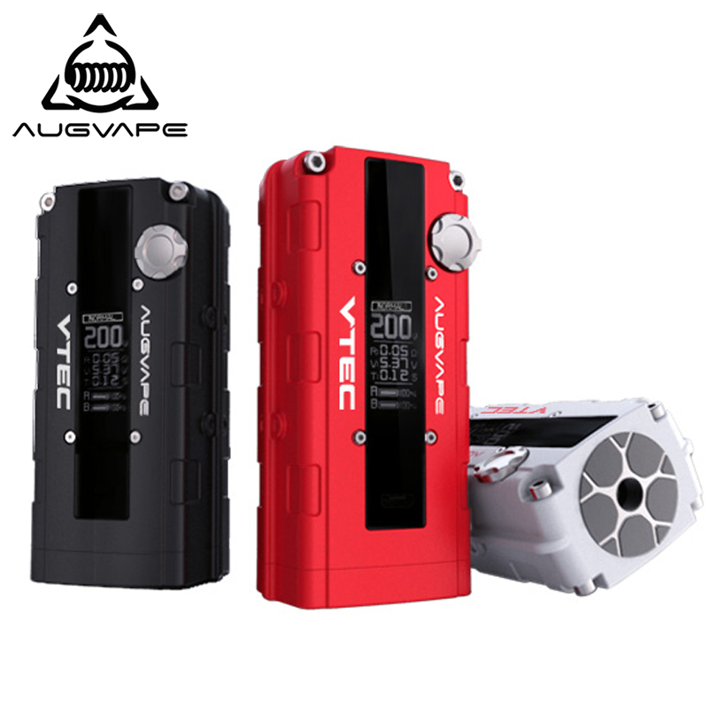 Augvape V200 200w electronic cigarette mod Auto Bypass V mode led display 510 connector mod box 3 colors original augvape v200 200w vw box mod 200w no 18650 battery with oled display electronic cigarette vaping inspired by car engine