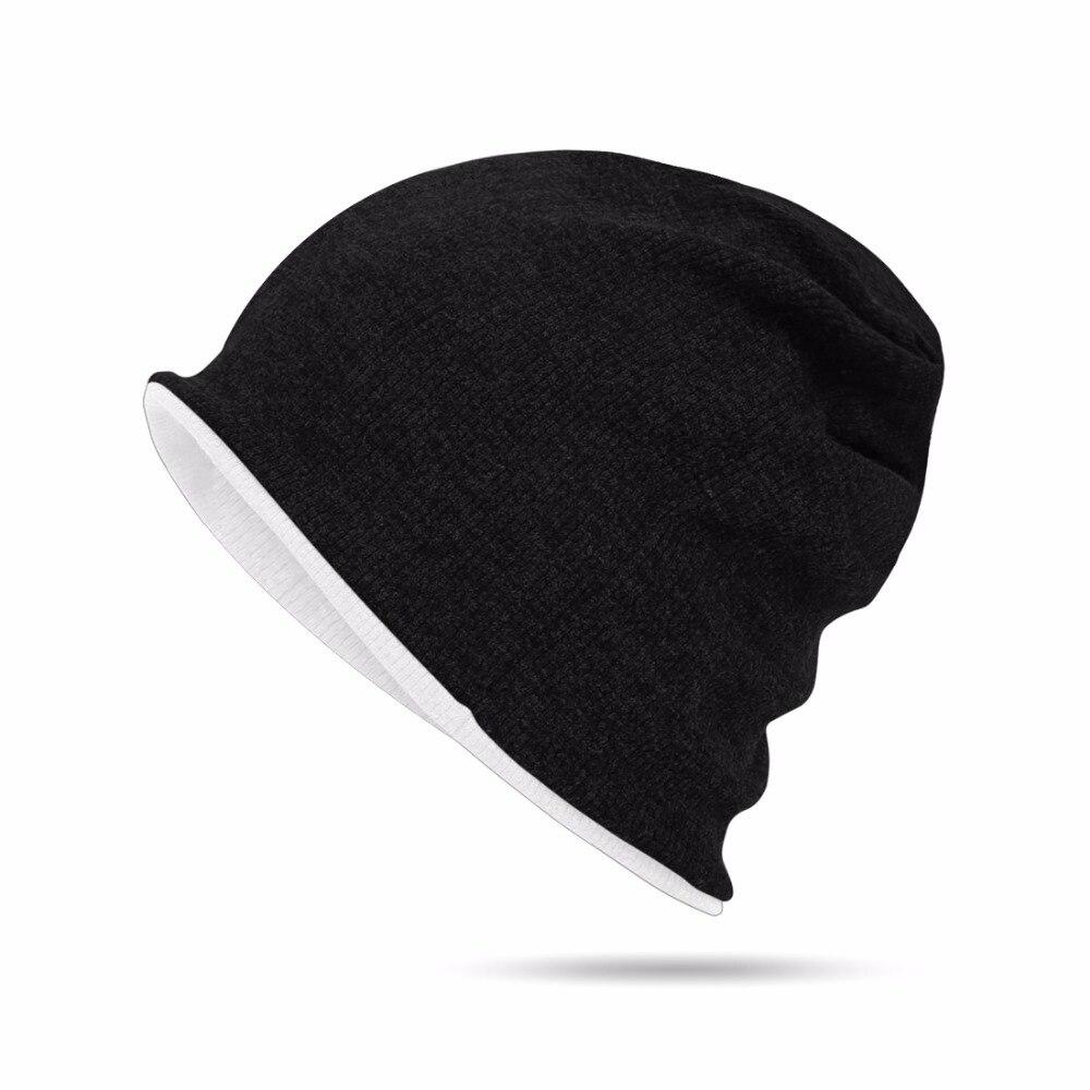 Multifunctional 3 in 1 Classic Plain Baggy Skull Cap Slouchy Beanie Fall/Winter Warm Hat Ear Warm Headband Reversible Men Women