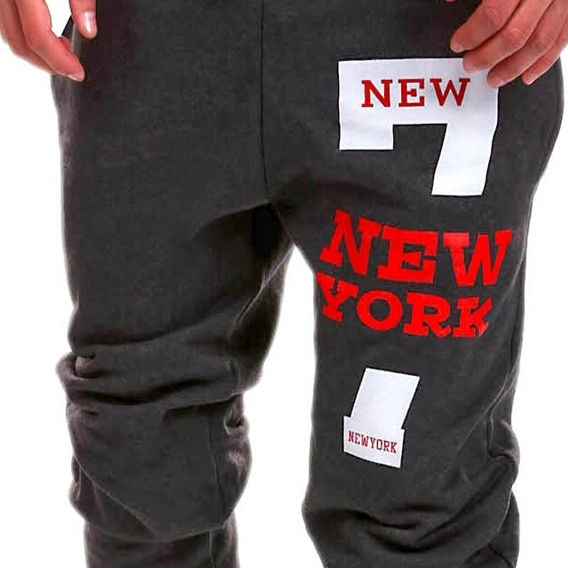 2016 New York Trend Number 7 Printed Design Men Pants Hot Sale Man Long Sweatpants Mens Joggers Leisure Harem In From Clothing On