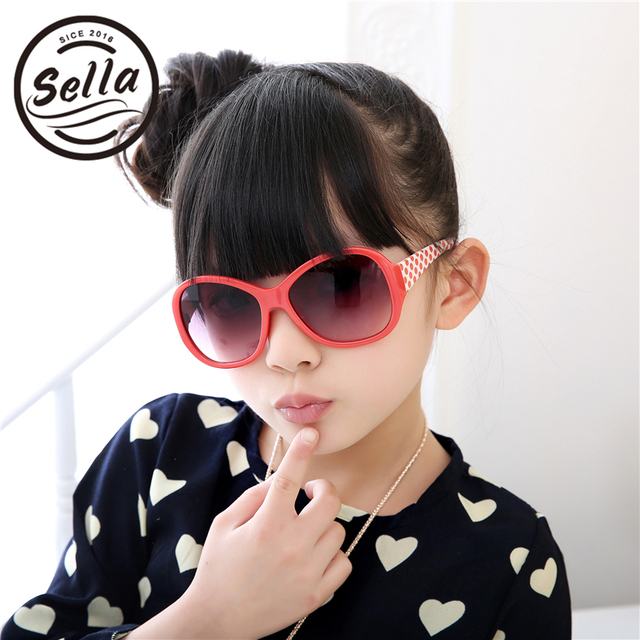 ac19ca1925f Sella Fashion Girls Sunglasses Brand Designer Classic Oversized Kids  Colorful Dot Decoration Sun Glasses Hot Sale