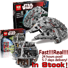 LEPIN STAR WARS Clone Troopers 05035 05033 Millennium Falcon Death Spaceship War Building Bricks Blocks Set