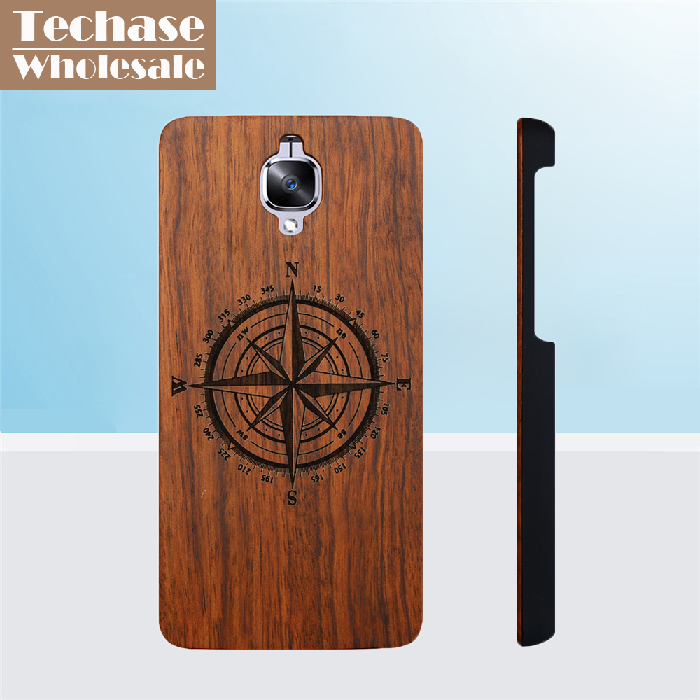 online store 6d7dc 1ea27 Wholesale 30pcs/lot Techase Wooden Phone Cases For Oneplus 3 Protective  Back Cover For Oneplus 3T Support Customized Logo Design-in Fitted Cases  from ...