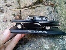 Boîte cadeau modèle de voiture soviétique, simulation 1:43, GAZ 13 CHAIKA gas Seagull, drapeau rouge allongé, livraison gratuite