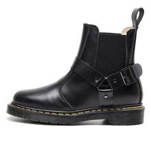 Fashion Leather Chelsea Boots Men Winter Autumn Shoes Retro Ankle Big Size Waterproof 5#19D50
