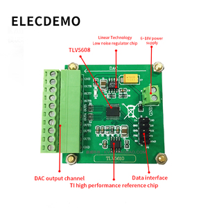 Image 2 - TLV5608 מודול הסידורי אוקטלי DAC מודול TLV5610/TLV5608/TLV5629 דיגיטלי לאנלוגי המרה עם תכנית
