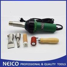 110 v ou 230 v 1600 w ferramentas de soldadura de ar quente, soldador de ar quente, pistola de calor com rolo de emenda de silicone de 40mm e bocais lisos da solda